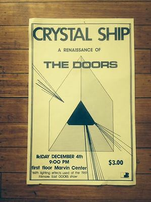 CRYSTAL SHIP Renaissance of THE DOORS Lighting Effects FILLMORE EAST 1969 Poster