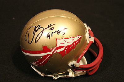 DERRICK BROOKS Signed FSU SEMINOLES MINI HELMET