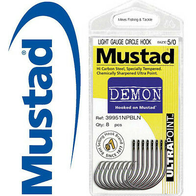 MUSTAD Demon Circle Fishing Hooks - 1 Pack - Choose your size