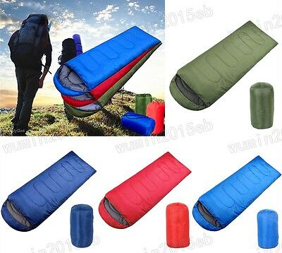 Waterproof Adult Unisex 3 Season Camping Hiking Portable Envelope Sleeping Bag