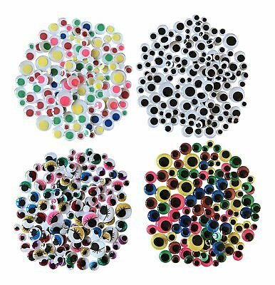 Self Adhesive Googly Eyes Wiggle Wiggly 550 Pack Stickers Craft