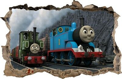 WALL STICKERS HOLE IN THE WALL 3D TRAIN THOMAS decorative sticker to the room 19