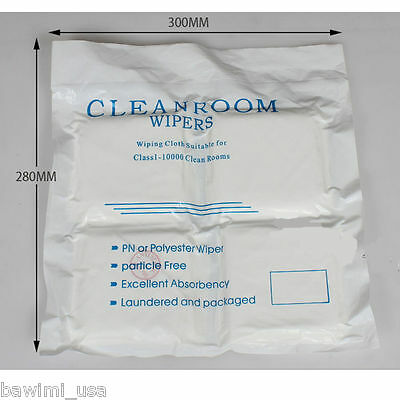 """400 Pcs 4"""" x 4"""" White Dustless Cleanroom Wiper Wiping Cloth Particle free USA"""