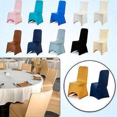 Chair Covers Polyester Spandex Slipcovers for Wedding Banquet Party Decoration
