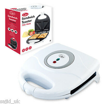 Quest Electric Sandwich Maker Toaster Easy Clean Non Stick 750W - WHITE