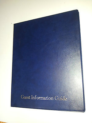 Guest Information Guide Pvc Folder With 25 Pockets Ref Blue/Silver