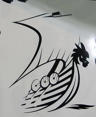 Norse VIKING Ship Boat on the move vinyl decal sticker