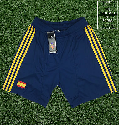 Spain Home Shorts - Official Adidas Football Shorts - Mens - Small