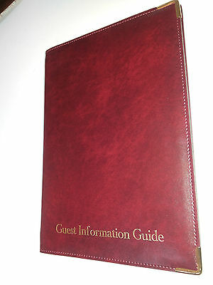 Top Quality Pu Guest Information Guide Pvc Folder With 10 Pockets Ref Burgu/Gold