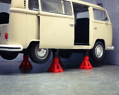 1/18 1/24 Jack Stand Miniature Diorama Garage Scale Accessory For Diecast Model