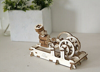 PNEUMATIC ENGINE UGEARS 3D Mechanical Wooden Models for self assembly
