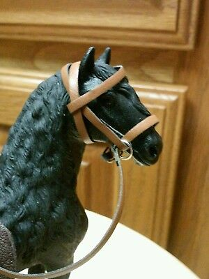 Schleich three custom English  bridles