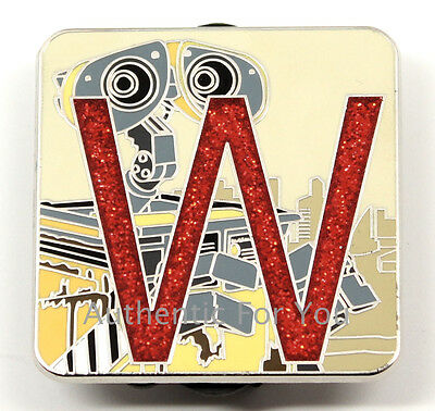 NEW 2016 Disney Pin Pixar Alphabet Letter W WALL-E CHASER LE 400 Mystery Box Set