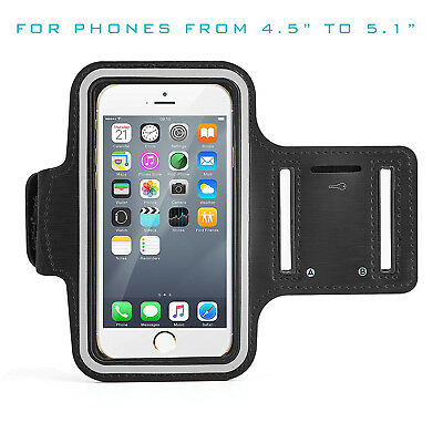 """New Running Sports Gym Workout Black Armband Case Cover For iPhone 6, 7 (4.7"""")"""