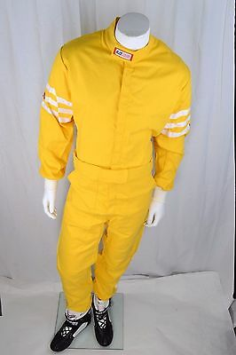Rjs Racing Sfi 3-2A/1 New Classic 1 Pc Suit Xl Fire Suit Yellow 200040606