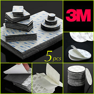 3M Strong Double Side Black & White Foam Tape Pad Mount Rectangle Round Adhesive