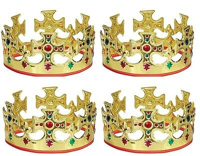 (4) Jeweled Majestic King Crown #8308  ~ Birthday Party Supply Favor Decoration