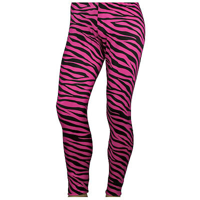 Adult Mens Spandex 1980s 80s Band Glam Rock Star Zebra Print Trousers Darkness
