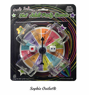 SPIN THE ARROW WHEEL Drinking Game 10 Pcs Adult Party Shot Glasses Spinner Gift