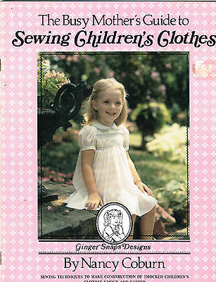 Vintage sewing and smocking book  SEWING CHILDREN'S CLOTHES