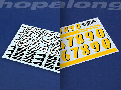 Scalextric/Slot Car 1/32 Scale Race Number Decals