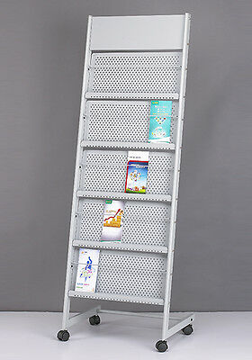 greeting card brochure display shelving stand magazine holder (#1205)