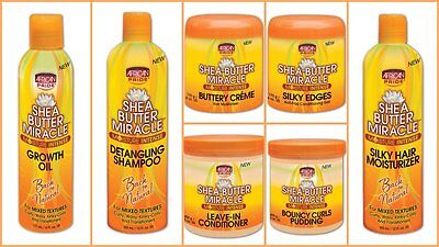 African Pride Shea Butter Miracle Moisture Intense Hair Product (Choose Yours)