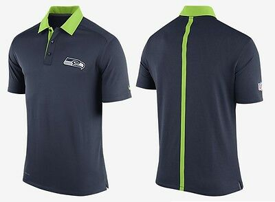 $80Men S 2XL 4XL NIKE NFL Seattle Seahawks ONFIELD Elite Coaches Staff Polo~RARE
