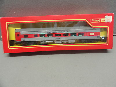Triang R324 Tc Transcontinental Red Silver Diner Coach