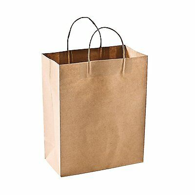 Brown Kraft Twisted Handle Carrier Paper Bags/Party/Food/Wedding/Hen/Sweet Bags