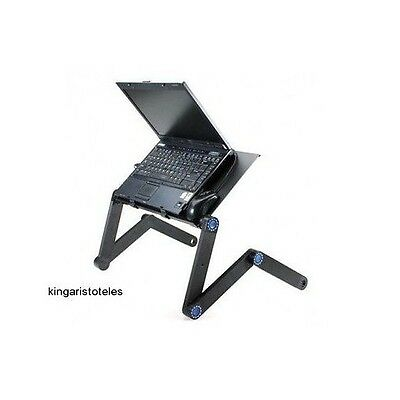 Foldable Laptop Stand Desk Portable Notebook Adjustable Pc Table Sofa Bed Tray