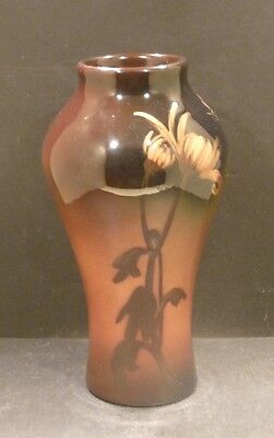 "Rookwood  Standard Glaze Vase With Chrysanthemums- 8 3/4""- Carrie Steinle - MINT"