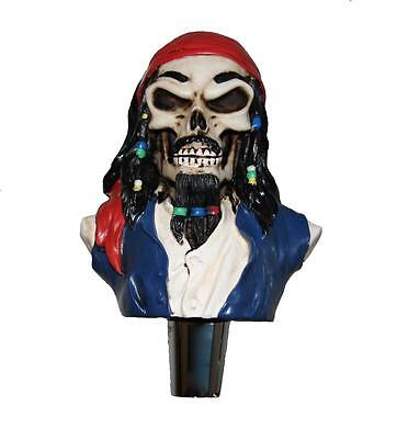 New figural DEAD PIRATE goth home bar kegerator beer tap handle Jack Sparrow