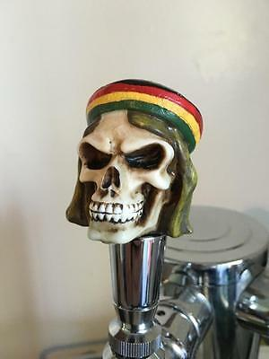 New figural DEAD RASTA ZOMBIE goth home bar kegerator beer tap handle Reggae