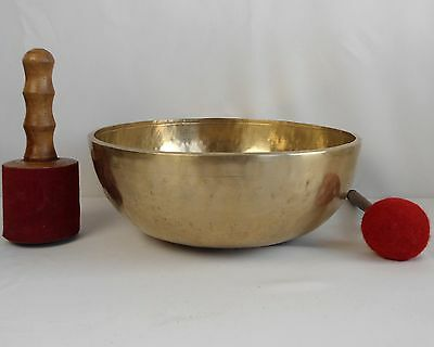 Bol chantant tibétain 3975 gr. 35 cm 7 métaux - Népal Singing Bowl
