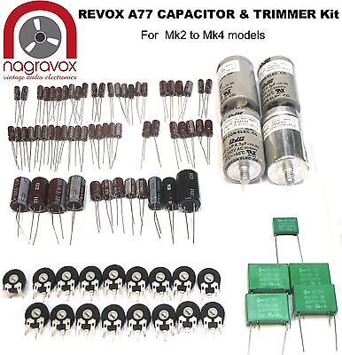 Revox A77 tape recorder capacitor and preset pot upgrade kit for later models
