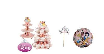 New Wilton Disney Princess Cupcake Stand Baking Cups And Picks Combo