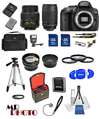 Nikon D5300 Digital SLR Camera + 32GB Value Bundle + 18-55mm VR + 70-300mmG