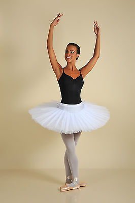 Professional Classical White Platter Adult Tutu Ballet Competition Costume