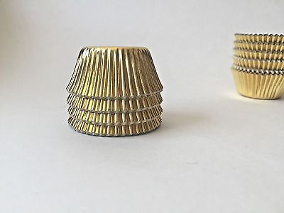 Gold mini foil candy baking cupcake Liners Frozen Birthday  #100