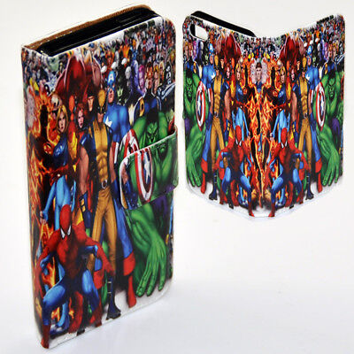 FOR OPPO SERIES - Marvel Comic Superheroes Theme Print Wallet Phone