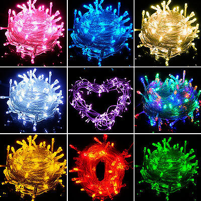 10-100M 100-1000 LED Bulbs Xmas Fairy Party String Decor Lights Lamps Waterproof