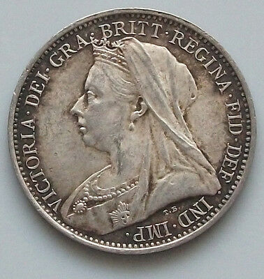 GREAT BRITAIN   4 PENCE 1900 GROAT TOP   #gw 217