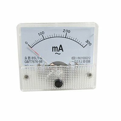 85L1-A AC 0-300mA Rectangle Analog Panel Ammeter Gauge