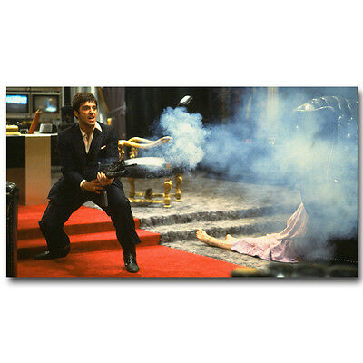Scarface Classic Movie Art Silk Poster Print 13x24 inches Al Pacino