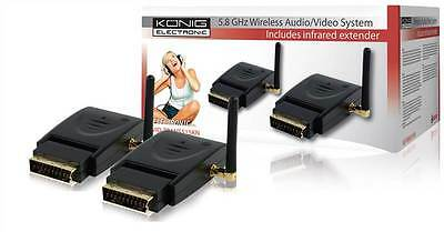 Konig 5.8Ghz Wireless Audio/Video Sender/System A/V (SCART lock connector)