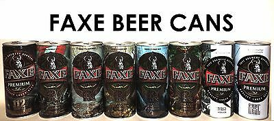 FAXE Exclusive series beer cans 8pc Saga of Ragnar № 2-6 + 112 & Two cans NEW !