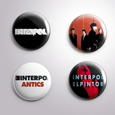 4 INTERPOL - Pinbacks Badge Button Pin 25mm 1''