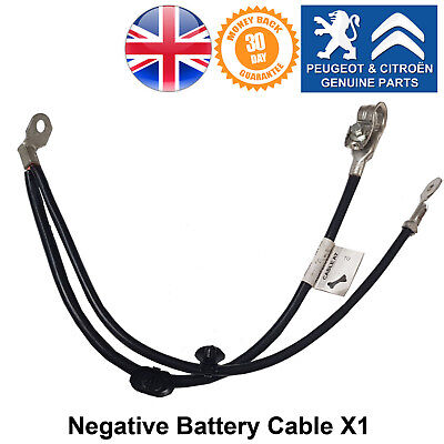 Peugeot 1007 207 Negative Battery Cable Terminal Connection Wire Genuine New