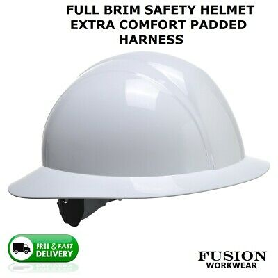 Safety Helmet Full Brim Extra Comfort, American Construction Style,hard Hat, Lid